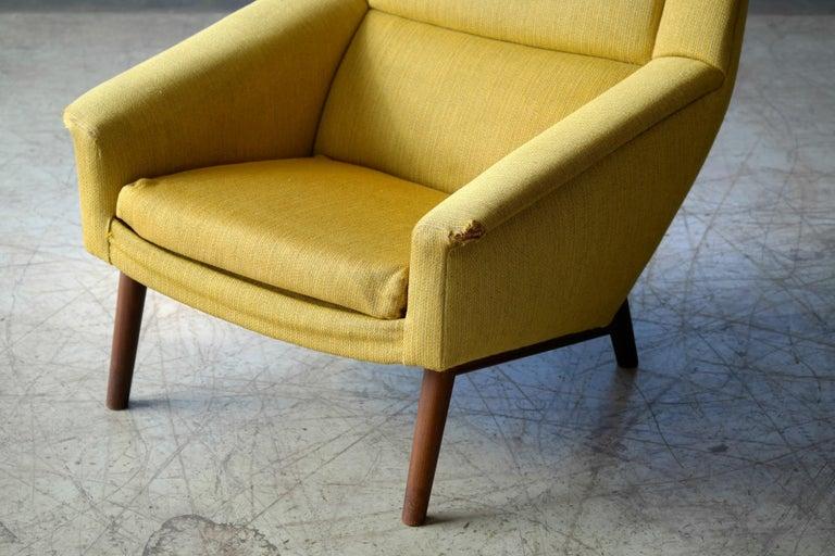 Folke Ohlsson 1950s Teak Lounge Chair for Fritz Hansen Danish Midcentury 3