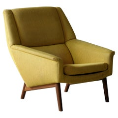 Folke Ohlsson 1950s Teak Lounge Chair for Fritz Hansen Danish Midcentury