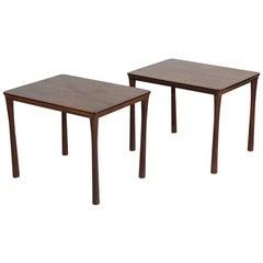 "Folke Ohlsson, ""Colorado,"" Pair of Midcentury Teak Side Tables, Sweden, 1950s"
