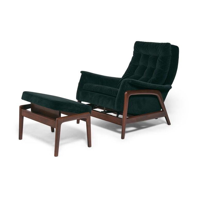 Scandinavian Modern Folke Ohlsson Dux Profil Lounge Chair Set For Sale