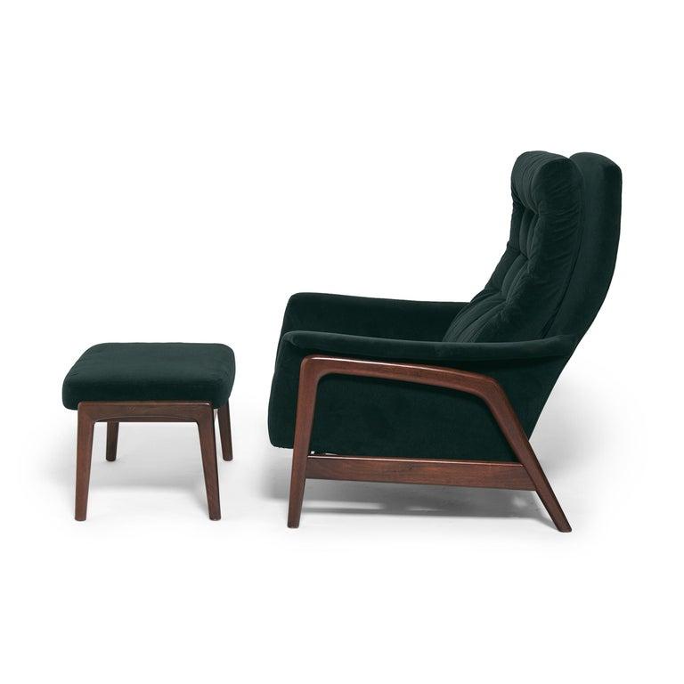 Swedish Folke Ohlsson Dux Profil Lounge Chair Set For Sale