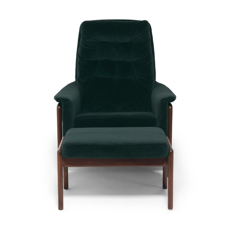 Folke Ohlsson Dux Profil Lounge Chair Set In Good Condition For Sale In Chicago, IL