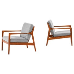 Folke Ohlsson Easy Chairs Model USA 75 Produced by Dux in Sweden