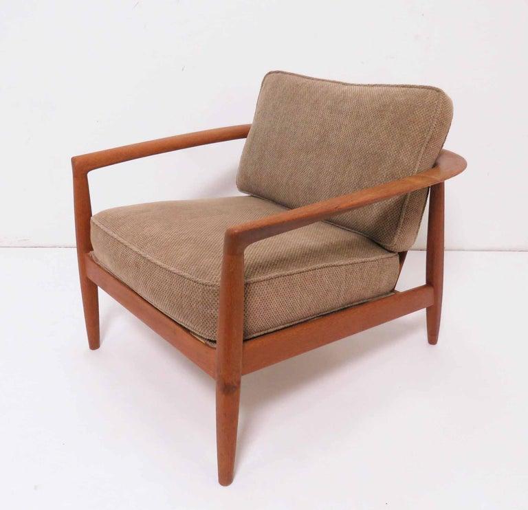 Outstanding Folke Ohlsson For Dux Danish Modern Teak Lounge Chair Circa Machost Co Dining Chair Design Ideas Machostcouk