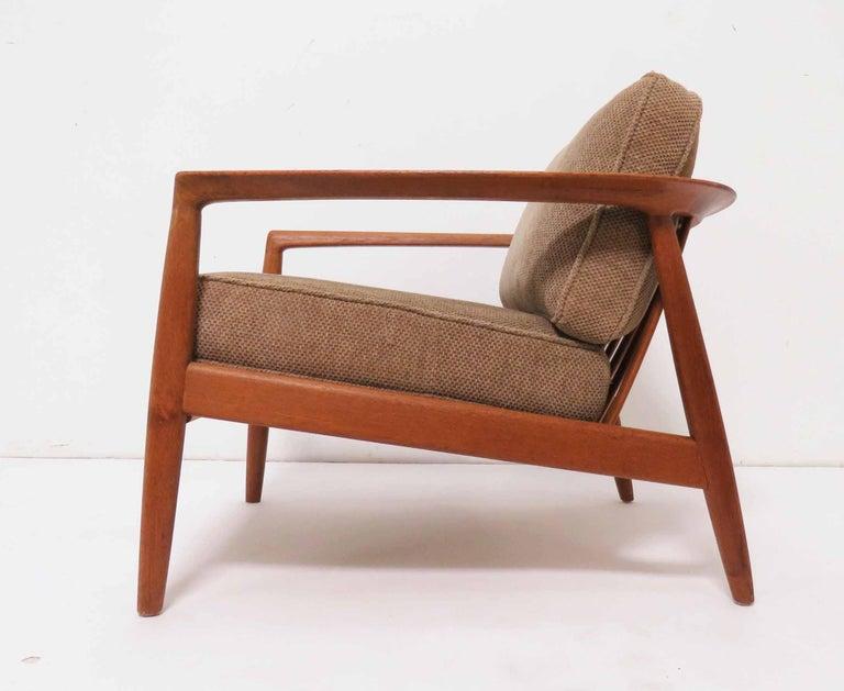 Awe Inspiring Folke Ohlsson For Dux Danish Modern Teak Lounge Chair Circa Machost Co Dining Chair Design Ideas Machostcouk