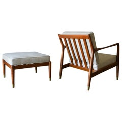 Folke Ohlsson for Dux Lounge Chair and Ottoman, circa 1960
