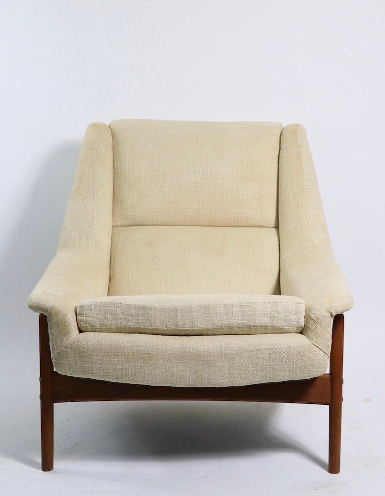 Scandinavian Modern Folke Ohlsson for DUX Lounge Chair For Sale