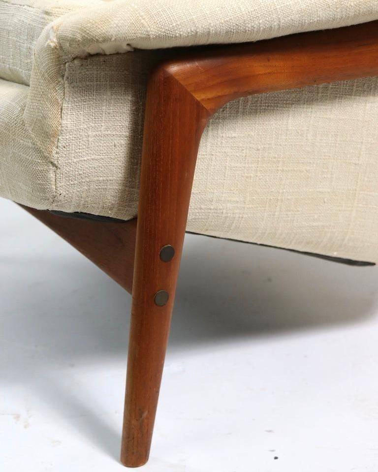Folke Ohlsson for DUX Lounge Chair In Good Condition For Sale In New York, NY