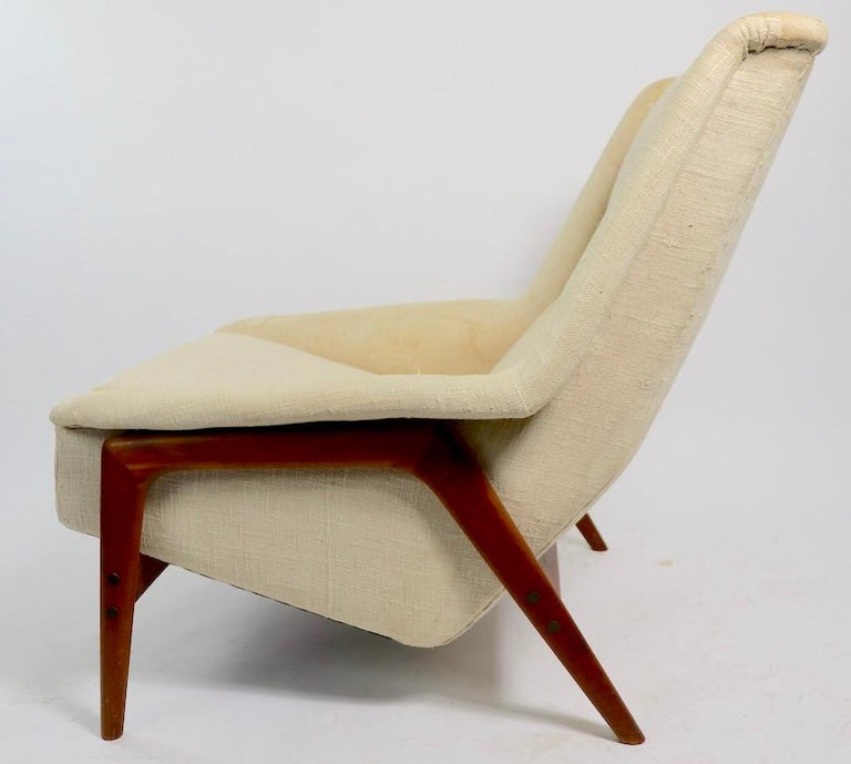 Upholstery Folke Ohlsson for DUX Lounge Chair For Sale