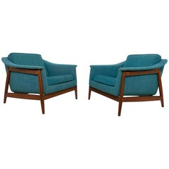 Folke Ohlsson for DUX Lounge Chairs Pair, circa 1950s