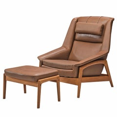 Folke Ohlsson for DUX 'Profil' Easy Chair with Ottoman