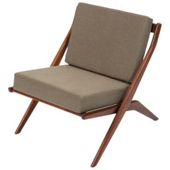 "Folke Ohlsson for DUX ""Scissor"" Lounge Chair"