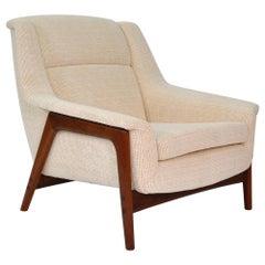 Folke Ohlsson for Dux Teak Off-White Profil Lounge Chair
