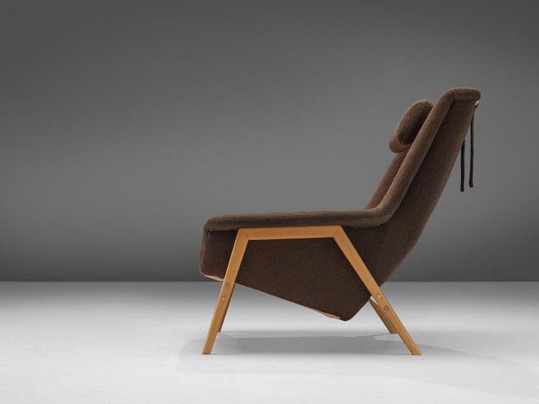 Scandinavian Modern Folke Ohlsson for Fritz Hansen Lounge Chair in Fabric For Sale