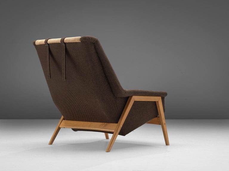 Danish Folke Ohlsson for Fritz Hansen Lounge Chair in Fabric For Sale
