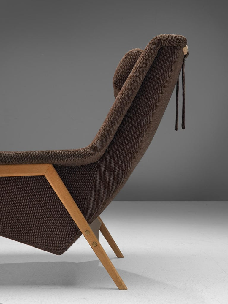 Folke Ohlsson for Fritz Hansen Lounge Chair in Fabric For Sale 1