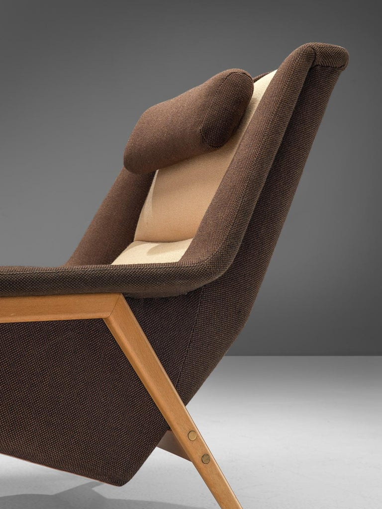 Folke Ohlsson for Fritz Hansen Lounge Chair in Fabric For Sale 2