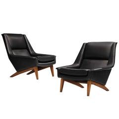 Folke Ohlsson for Fritz Hansen Reupholstered Lounge Chairs Model '4410'