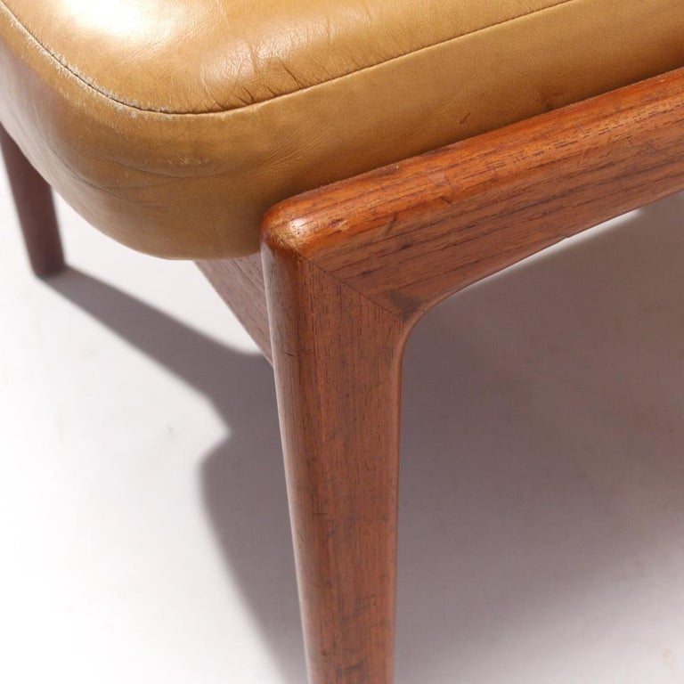 Danish Folke Ohlsson Lounge Chair and Ottoman in Leather For Sale