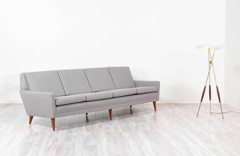 Scandinavian Modern Folke Ohlsson Model 66-S4 Sofa for Dux For Sale