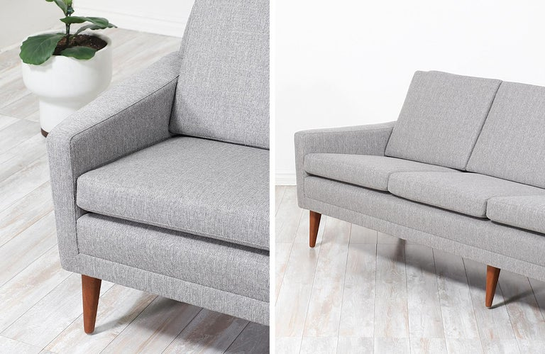 Fabric Folke Ohlsson Model 66-S4 Sofa for Dux For Sale