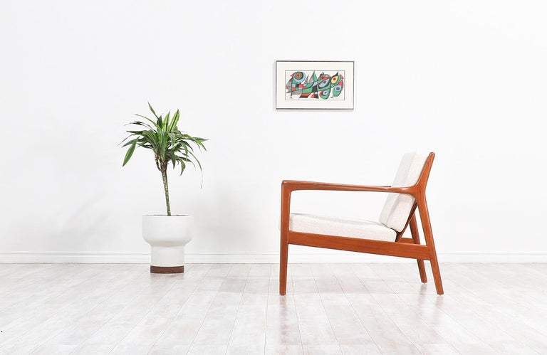 Folke Ohlsson Model 75-C Teak Lounge Chair for DUX In Excellent Condition For Sale In Los Angeles, CA