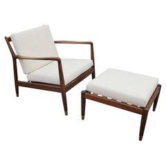 Folke Ohlsson Model 75-C Walnut Color Danish Modern Lounge Chair for DUX
