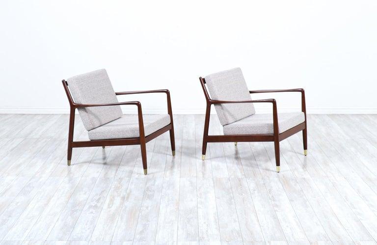 Scandinavian Modern Folke Ohlsson Model USA-143 Lounge Chairs for DUX For Sale