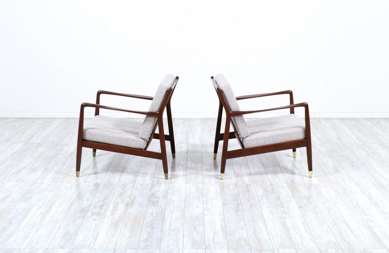 Swedish Folke Ohlsson Model USA-143 Lounge Chairs for DUX For Sale
