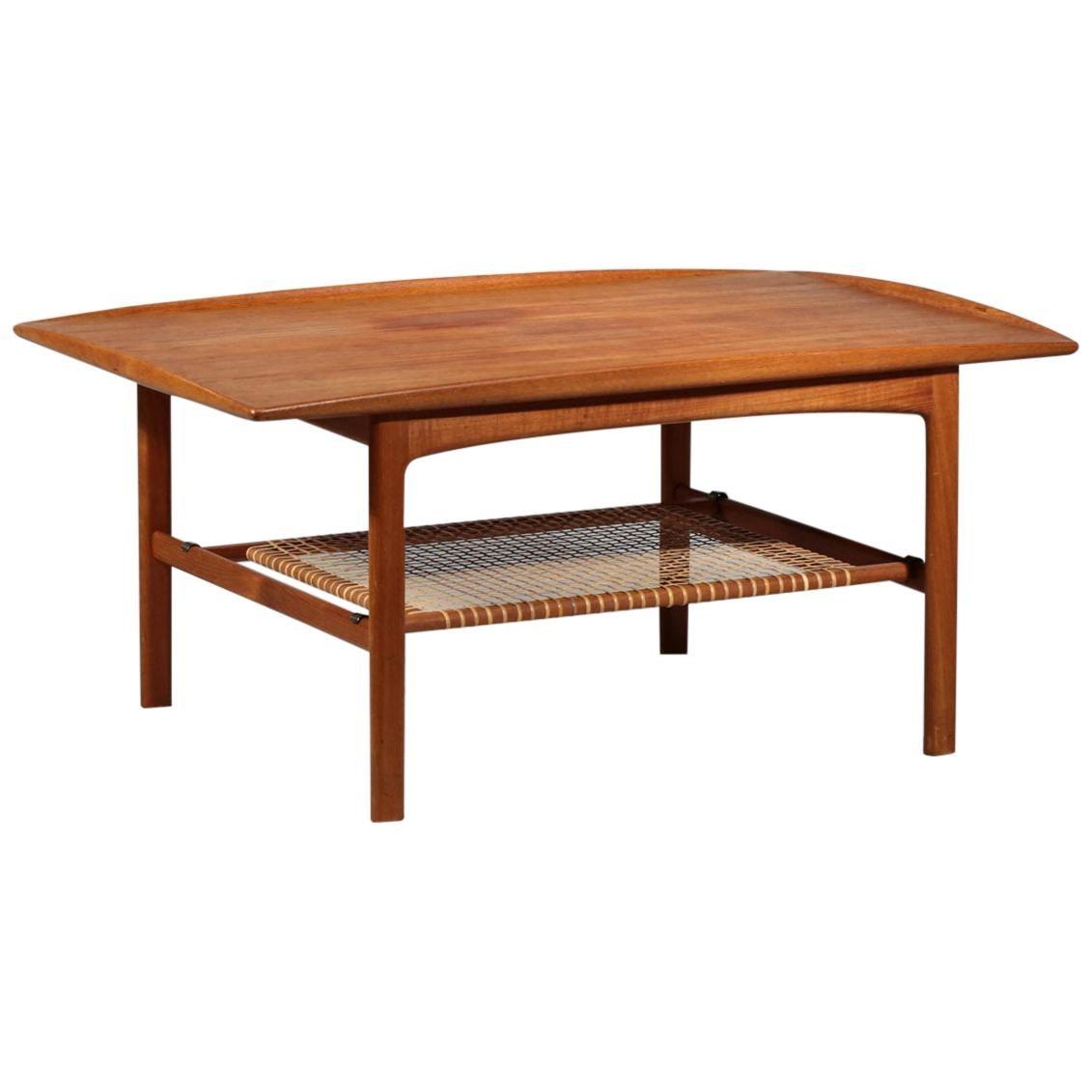 """Folke Ohlsson Scandinavian Coffee Table """"Frisco"""" for Brabohag Tingstroms Danish"""