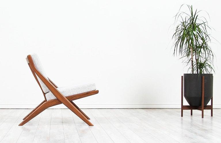 Scandinavian Modern Folke Ohlsson Scissor Lounge Chair for Dux