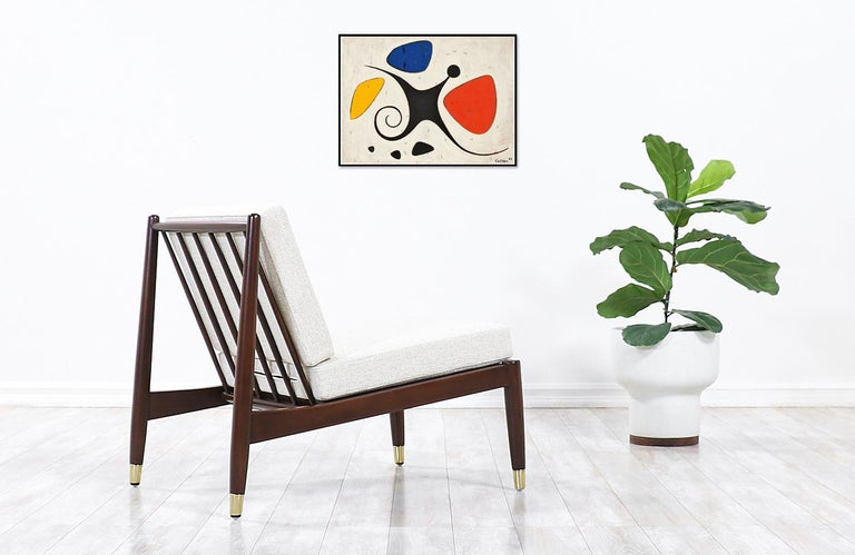 Swedish Folke Ohlsson Slipper Lounge Chair for DUX For Sale