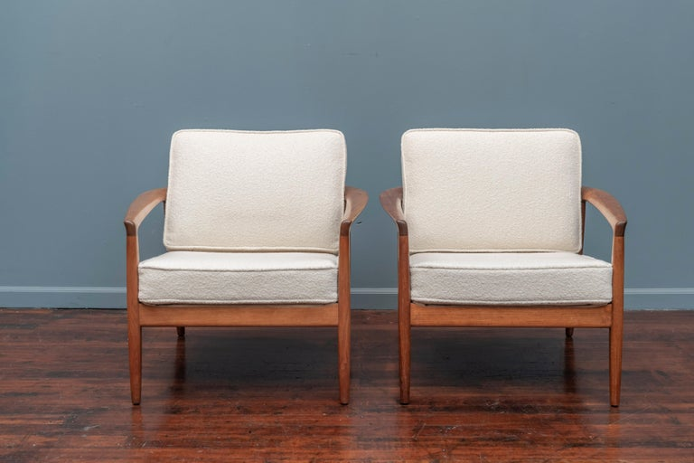 Scandinavian Modern Folke Olhsson Lounge Chairs for DUX For Sale
