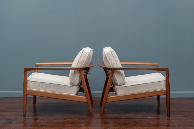 Upholstery Folke Olhsson Lounge Chairs for DUX For Sale