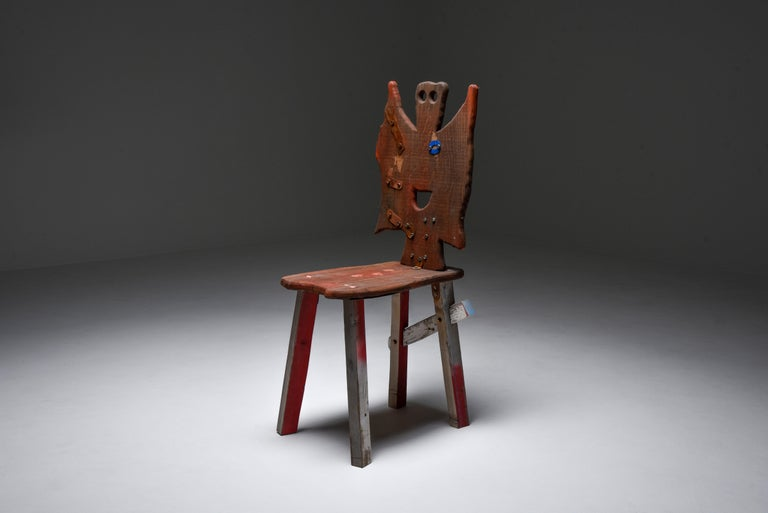 Rustic Folks 29 Chair by Serban Ionescu For Sale