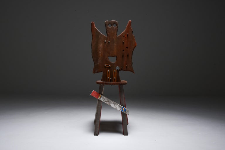 Metalwork Folks 29 Chair by Serban Ionescu For Sale