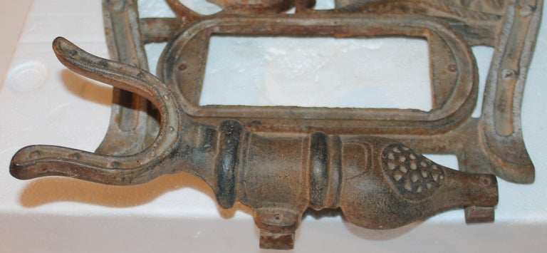 Folky Early 20thc Iron Boot Jack & Rack For Sale 1