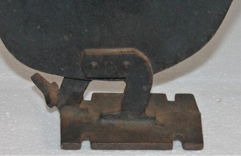 American Folky Iron Chicken Door Stop / Boot Scraper For Sale