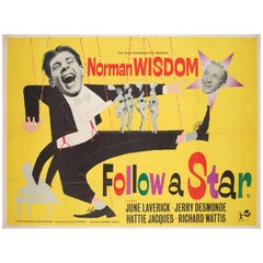 Follow a Star 1959 UK British Quad Film Poster