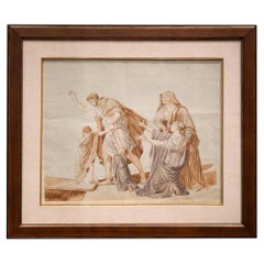 Follower Jacques-Louis David Neoclassical Red Chalck French Paper