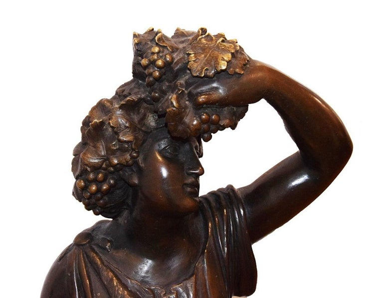 Follower of Bacchus, Original Bronze Sculpture by Italian Master End of 1800 In Good Condition For Sale In Roma, IT