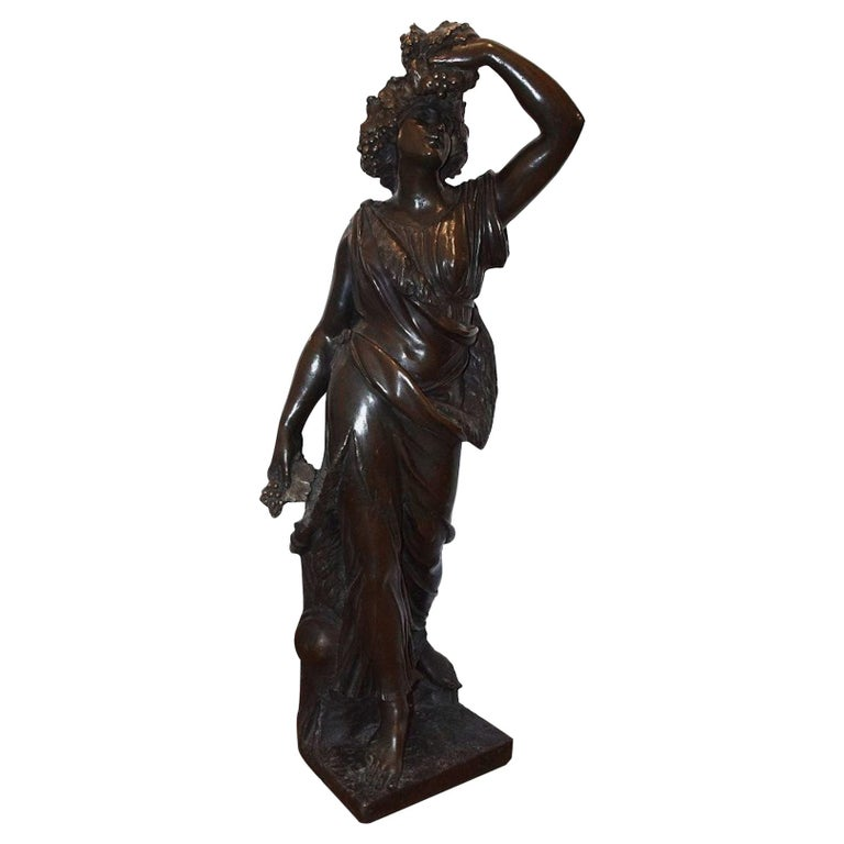 Follower of Bacchus, Original Bronze Sculpture by Italian Master End of 1800 For Sale