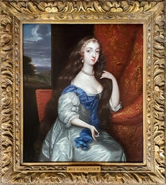Portrait of a Lady in a white dress, English Manor House Provence, Coombe Abbey
