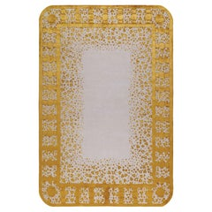 Folly Hand-Knotted 9'x6' Rug in Wool and Silk By Martin Brudnizki