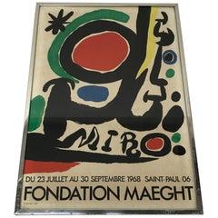 Fondation Maeght Joan Miro Abstract Poster, 1968, Paris, France