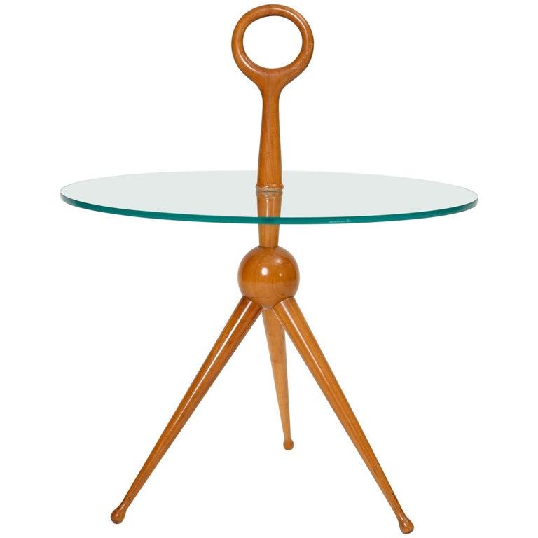 Fontana Art Style Tripod Side Table For Sale