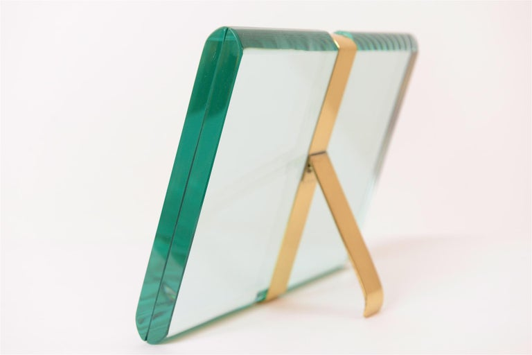 Mid-20th Century Fontana Arte '1370/1 Model' St Gobain Crystal Picture Frame, Italy, circa 1960 For Sale