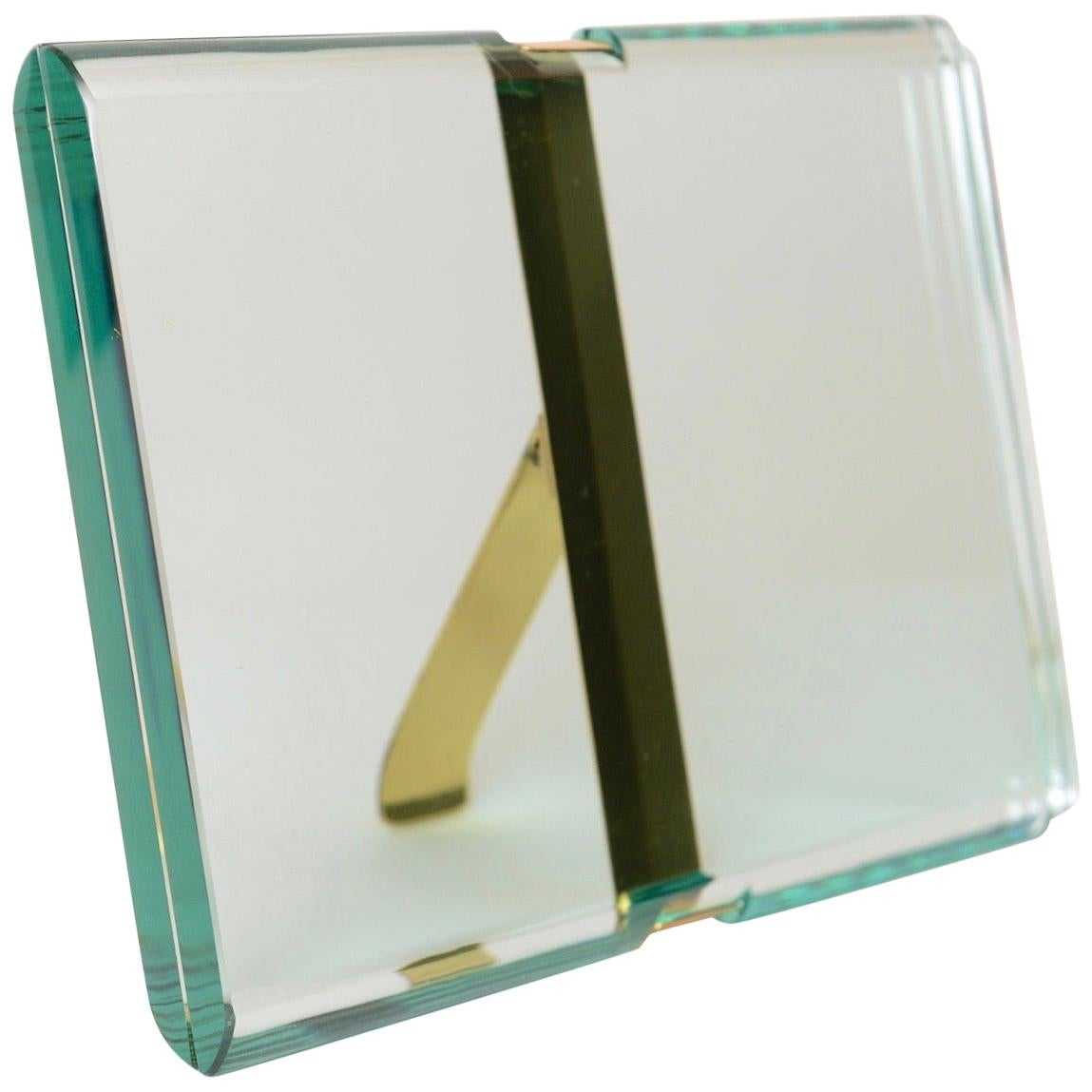 Fontana Arte '1370/1 Model' St Gobain Crystal Picture Frame, Italy, circa 1960