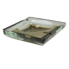 Fontana Arte Ashtray Italy 1960 Thick Glass