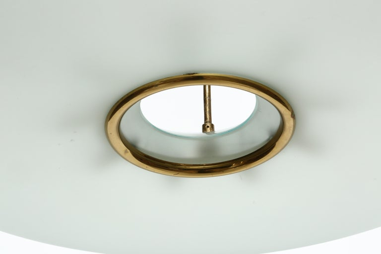 Fontana Arte Attributed Chandelier by Max Ingrand In Good Condition For Sale In New York, NY